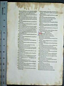 Incunabula,early,important Bible Lf.Names,Samua-Sechemas,Jenson,Venice,1479
