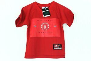 Ohio State Buckeyes Basketball Youth Medium 4-7 Warm Up Jersey Shirt NWT adidas