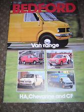 cd45a80ad5 New listingORIGINAL BEDFORD VAN RANGE SALES BROCHURE 1978