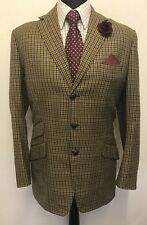 MS2467 MEN'S WINDOWPANE VINTAGE BLAZER JACKET SIZE 40 UK
