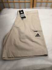 Adidas We Short Dark Bone Clima lite Flat Front  Standard Length Mens Size 30""
