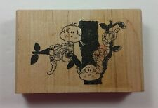 Worms in the Apple Tree Rubber Stamp GE Stamp Works Background