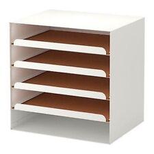 Steel And Cork Mid Century Modern Style Letter Paper Shelf Holder Rack Tray