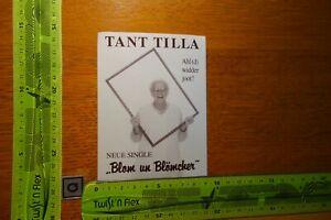 Alter Aufkleber Bühne TANT TILLA Blom un Blömcher Stadt Köln