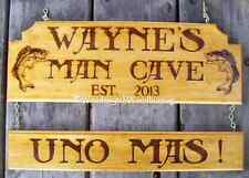 X LARGE 0.5M WIDE 2 PART PERSONALIZED HOME MANCAVE BAR IMAGE TIMBER PINE SIGN