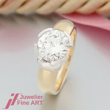 "RING ""Solitär-Ring 1 Brillant (Diamant) 2,84ct I/si 1""18K/750 Gelbgold-Weißgold"