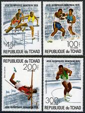 Chad 313,C187-C189, MI 742-745, MNH. Summer Olympic Games, Montreal, 1976