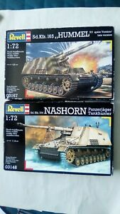 2 x 1/72 Revell Incomplete kits Hummel and Nashorn - read description