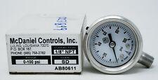 "McDaniel Controls 0-100PSI 1/8"" NPT Bottom Mount Gauge SD"