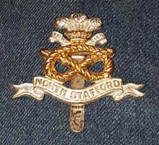 bi metal ? bright/Anodised.The North Staffordshire Regiment cap badge 33