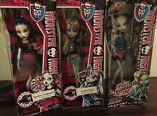 Set of 3 Monster High Dolls, Frankie Stein, Laguna Blue, Spectra