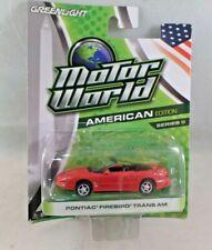 Greenlight Motor World American Edition Pontiac Firebird Trans Am NIP HTF Red