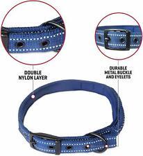 Heavy Duty Dog Collar With Handle Ballistic Nylon Extra Large Midnight Blue