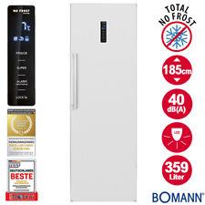 Bomann Vollraum Kühlschrank No Frost 185cm Tür Display weiß freistehend LED 359L