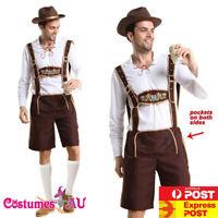 Mens Oktoberfest Embroidery Lederhosen Costume Octoberfest Bavarian German Beer