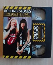 ROLLING STONES -''NO SECURITY - LIVE'' OFFICIAL PROMO VIDEO TAPE + CD + SET LIST