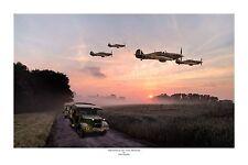 "WWII WW2 RAF Hawker Hurricane Military Aviation Art Photo Print - 8"" X 12"""