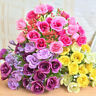 21 Head Artificial Rose Silk Fake Flower Bridal Bouquet Wedding Party Decor 2018