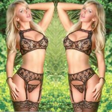 Hot Women Sexy/Sissy-Lingerie Sex-Toys Bra Corset G-String Thong Garters Lace