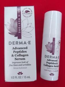 DERMA-E Advanced Peptides & Collagen Serum .5oz Deluxe Travel Size - NEW in Box!