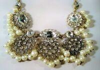 Rhinestone Princess Queen Sparkle Necklace Statement Bride Prom Dress Up Wedding