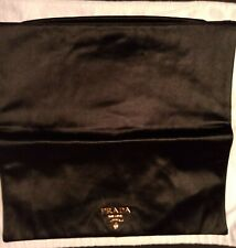 Pr...da Nero Black Satin Clutch.   As New with Authenticity Cards.