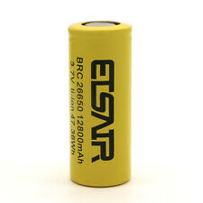 26650 Battery 12800Mah 3.7V Flat Top Li-ion Rechargeable Batteries 47.36Wh