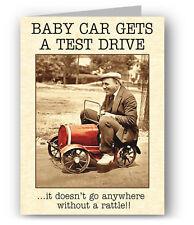 Vintage Coche Divertido Greeting Card-Grandad de coche de bebé Test Drive