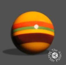 26mm-Handmade Art Glass Marble-Cheeseburger- by:A R Buckner