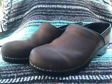 Sanita Black Stapled Danish Clogs Shoes Mens  EUR 45 US 12