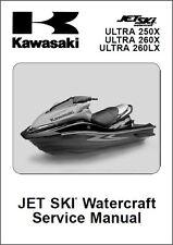 07-10 Kawasaki Jet Ski Ultra 250X 260X 260LX Service Manual CD  JetSki 260 X LX