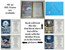 Personalized Brother NFL Birthday,Father's Day,Valentine's Day or Christmas Gift