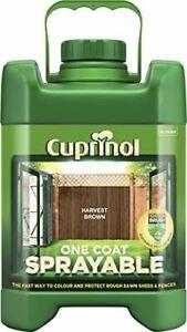 Cuprinol Sprayable 5 YR Fence Treatment For Shed & Fences 5L Harvest Brown
