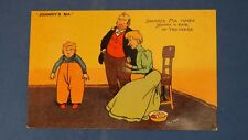 Vintage Tom Browne Comic Postcard 1906 Home Made Trousers JOHNNY'S MA