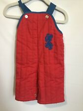 Vtg Baby Coveralls Cee Tee Playwear Infant Clothes Bib Overalls 9 Mo. Boys Horse