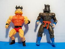 Vintage Bootleg MOTU knock off figures Lot Of 2 Galaxy Warriors Fighters 1980s