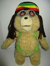 "TED Talking Movie Dread locks Rasta 16"" Stuffed Teddy Bear Hippie Hemp Rated R"