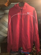 Nike Full Zip Up Hoodie Sweatshirt Mens Size XL Extra Large Maroon White