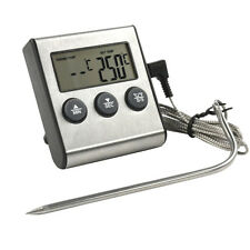Digital LCD Thermometer Timer Grill Meat Kitchen Oven Food Cook Probe for BBQ