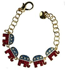 Crystal Republican Logo Bracelet