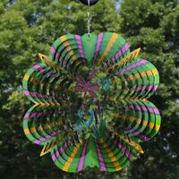 Sunnydaze Dragonfly Whirligig Outdoor Wind Spinner with Hook - 12-Inch