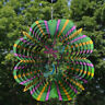 Sunnydaze Dragonfly Whirligig Outdoor Wind Spinner with Hook - 12-Inch