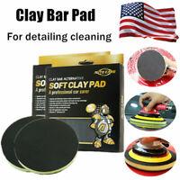 "6"" Clay Pads Buffing Sponge Polishing DA Polisher Disc For Car Detailing Clean"