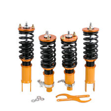For Honda Civic 1992-2000 Full Coilover Suspension lowering Kits Golden