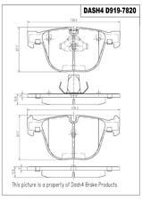 Disc Brake Pad Set-PREMIUM SEMI METALLIC PADS Rear Dash 4 Brake MFD919