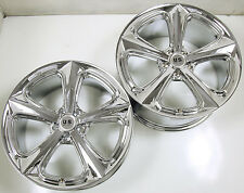 US MAGS MILNER U122 20 x 9.0 / 10.0 CHROME RIMS WHEELS MERCEDES S550 5x112 +35
