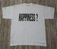 Roger Taylor : Official Happiness 1994 Album Promo White T-Shirt Queen