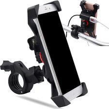 ATV MTB Motorcycle Handlebar 2A USB Charger djustable Mobile Cell Phone Holder