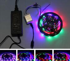 5M 2811 5050 SMD RGB LED STRIP LIGHT 60 led/m 24 KEY REMOTE FULL KIT UK SELLER
