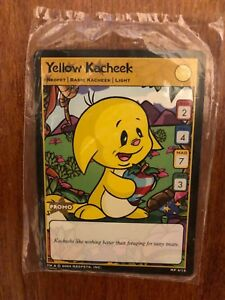 Neopets Trading Card Game Promo Cards MP 4/15 Yellow Kacheek (Sealed)
